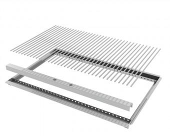 Nachrüstset 2-teilig 8mm V2A Rost Einzelstäbe und Rahmen