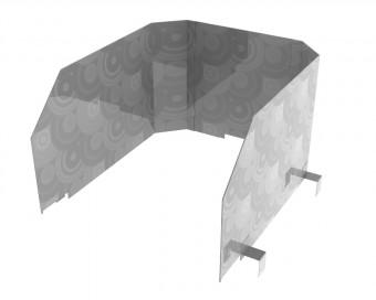 Wind- und Spuckschutz Aufsatz