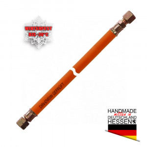 Gasschlauch MD-Schlauch winterfest G 1/4LH-ÜM x SRV 8mm (Schneidring)
